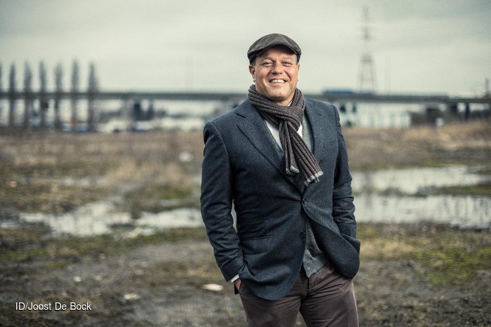 Bart Verhaeghe op het terrein van Uplace in Machelen