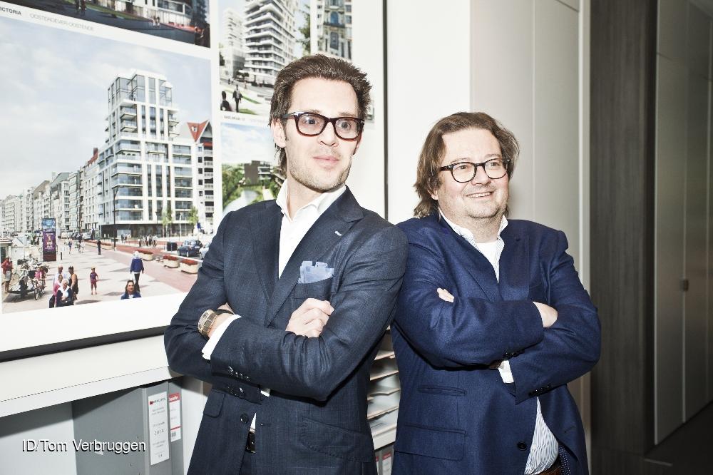 20150211 oostende belgie: marc coucke investeert na de verkoop enkele maanden geleden van farma-reus omega pharma 75 miljoen euro in bouwbedrijf groep versluys. ceo bart versluys geeft samen met coucke een persconferentie. CREDIT: Imagedesk / Tom Verbruggen