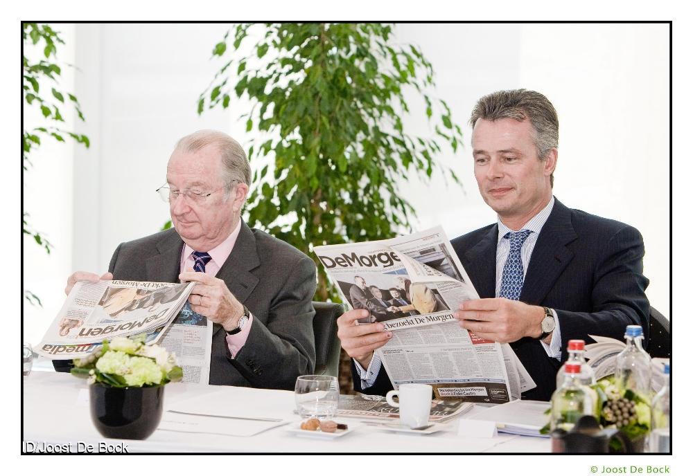 Koning Albert bezoekt drukkerij EPC - Lokeren drukkerij van De Persgroep Christian Van Thillo Koning Albert Koning Albert Christian Van Thillo  CREDIT: Imagedesk / Joost De Bock