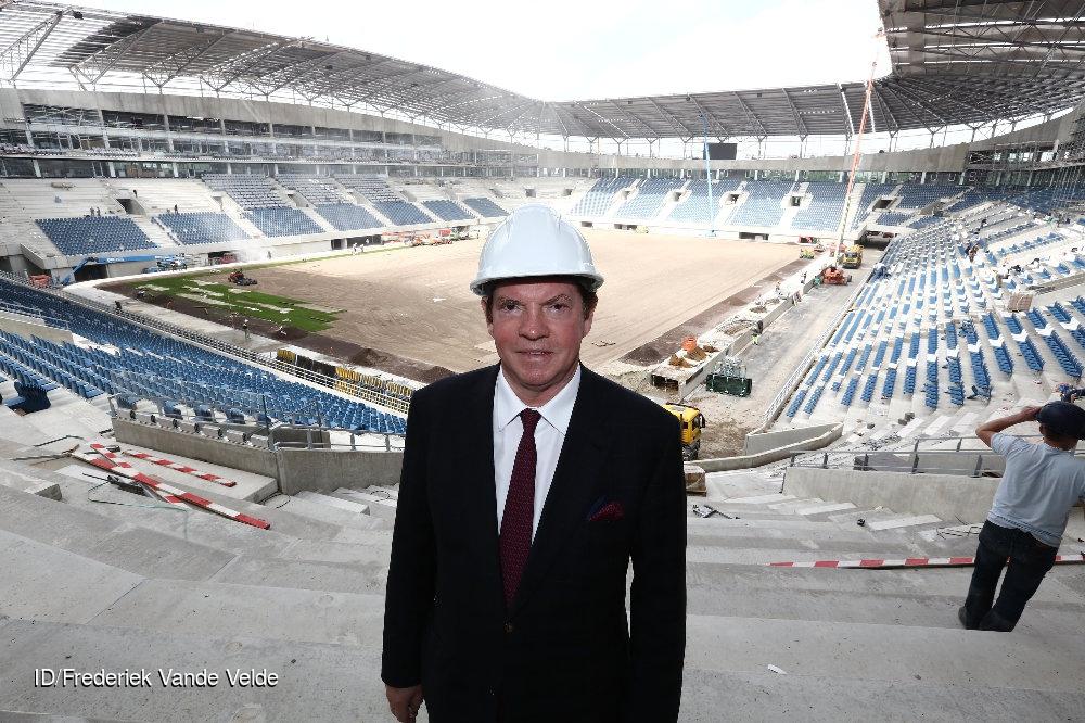 Paul Gheysens in de Ghelamco Arena  CREDIT: Imagedesk / Frederiek Vande Velde