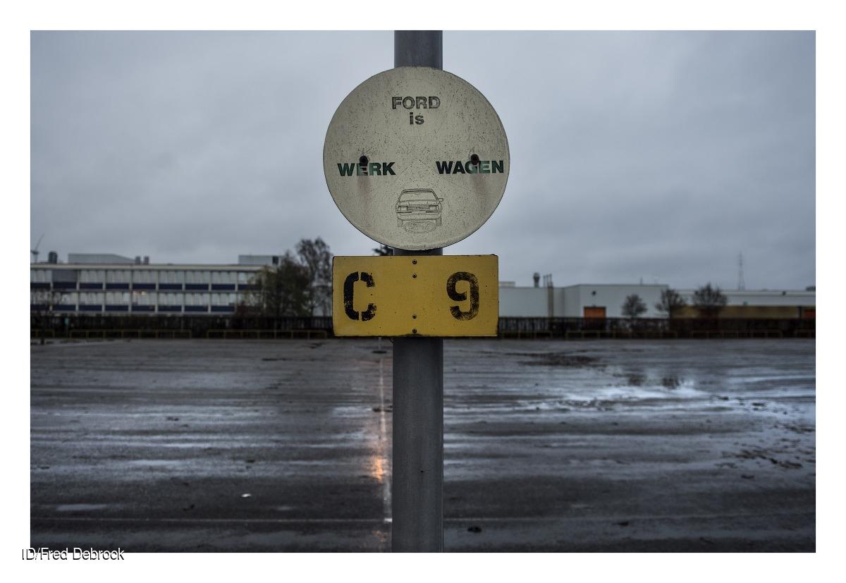 Ford Genk Sluit definitief de deuren, de laatste wagen werd vandaag afgehandeld. 5000 mensen verliezen hun Job in Genk.  CREDIT: Imagedesk / Fred Debrock