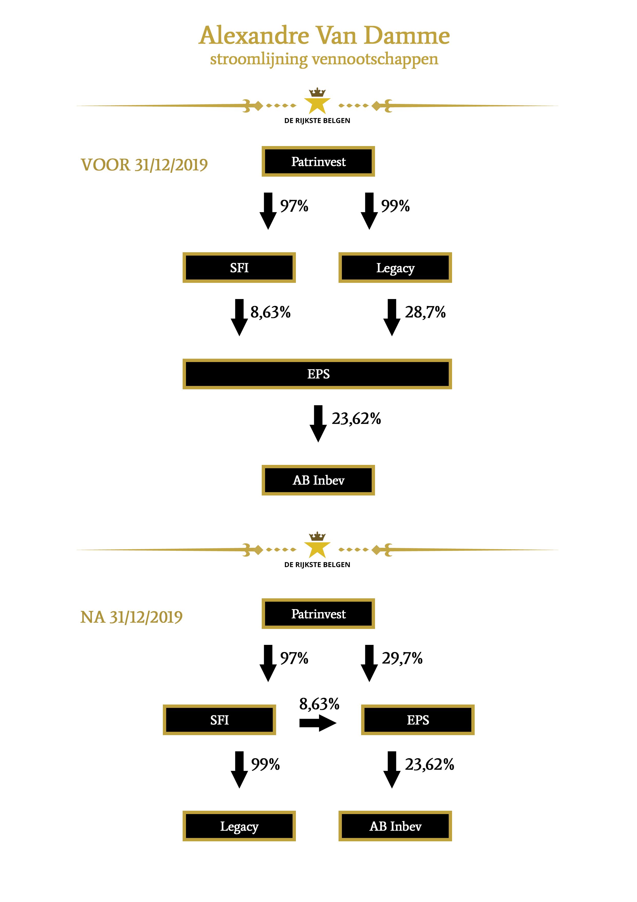 Stroomlijning vennootschappen Alexandre Van Damme - 2019 - Patrinvest